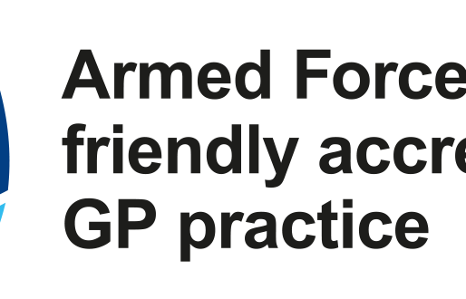 Armed Forces veteran friendly accredited GP practice.