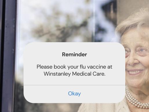 We're booking flu jabs!