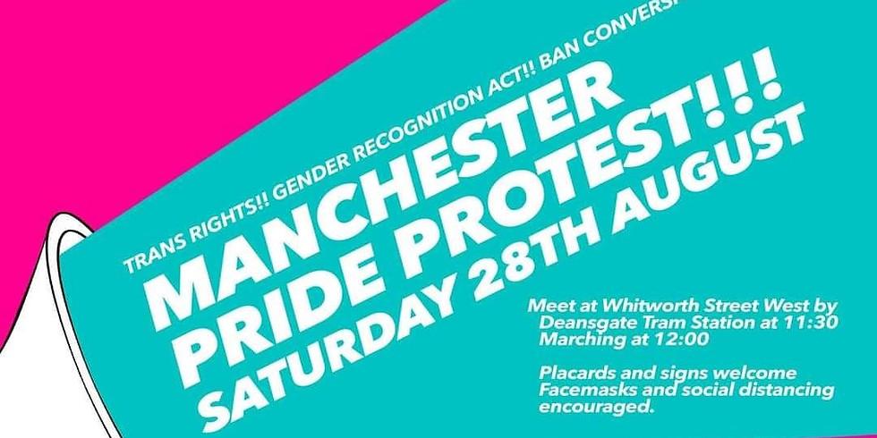 Manchester Pride Protest 2021