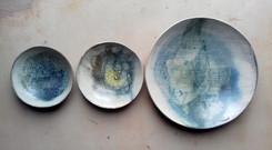 coupes creuses diamètre=17cm, 19cm, écailles pointues diamètre=33cm