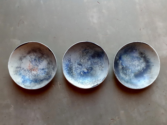coupes creuses - trio  diamètre=19cm H=4,5cm