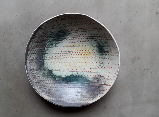 écailles pointues - coupe creuse diamètre=21cm H=5cm