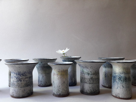 Mini Vases H moyenne=13cm  diamètre= 6cm et 8cm
