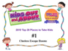 Clueless Escape is #1 with Kidsoutandabout.com