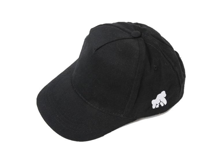 kids black hat with a white logo