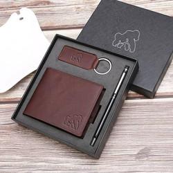 Brown Wallet Gift Set