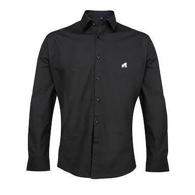 Going APE Black Poplin Style Shirt