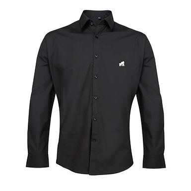 Going APE Black Poplin Style Shirt