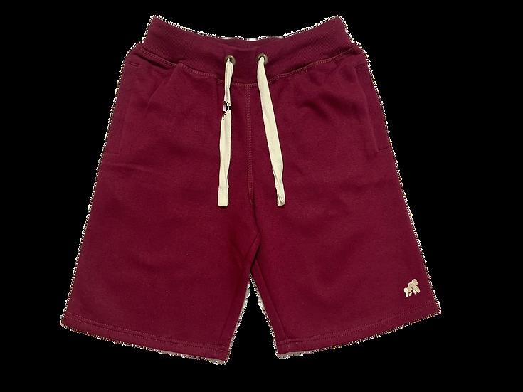 burgundy men's soft lounge shorts