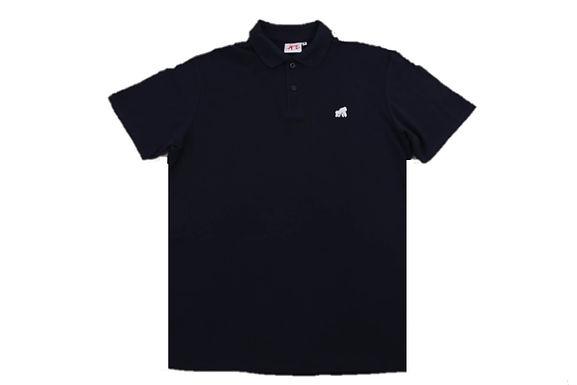 Going APE Navy with  White Logo Polo T- Shirt
