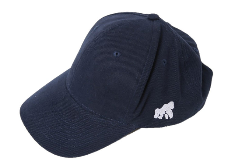 navy adults cap with a white logo