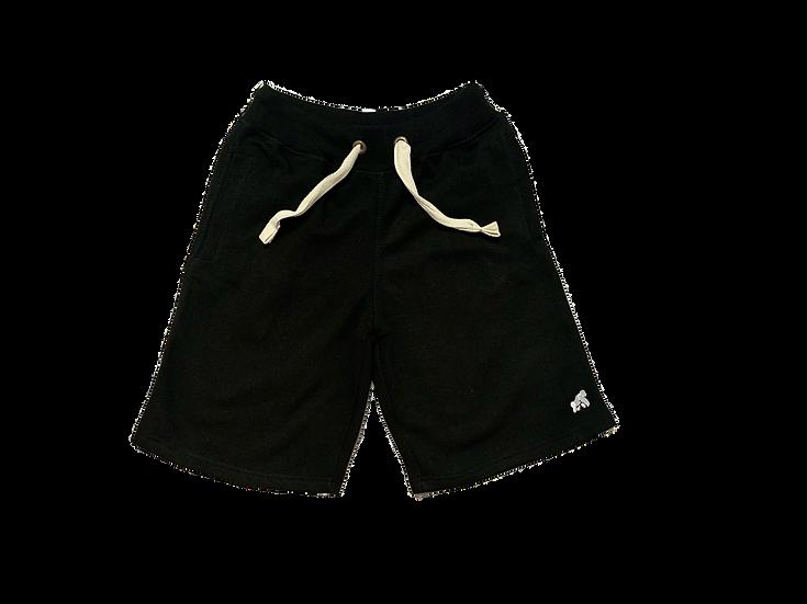 black men's lounge soft shorts