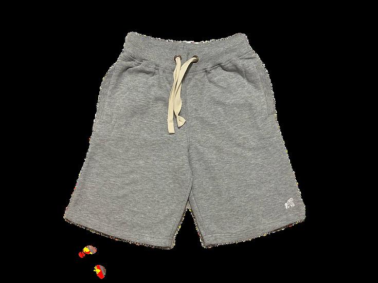 grey men's lounge soft shorts