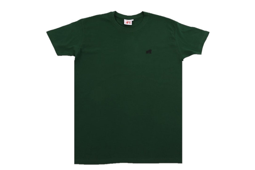 dark green adults crew neck t-shirt with a black logo
