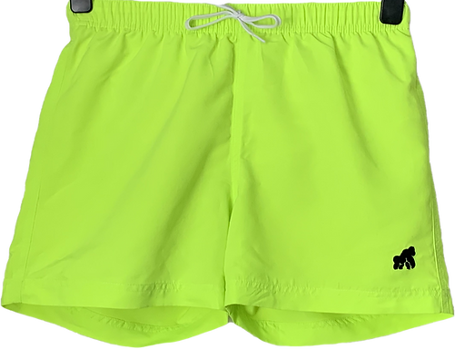 Going APE Florescent Yellow Swim Shorts