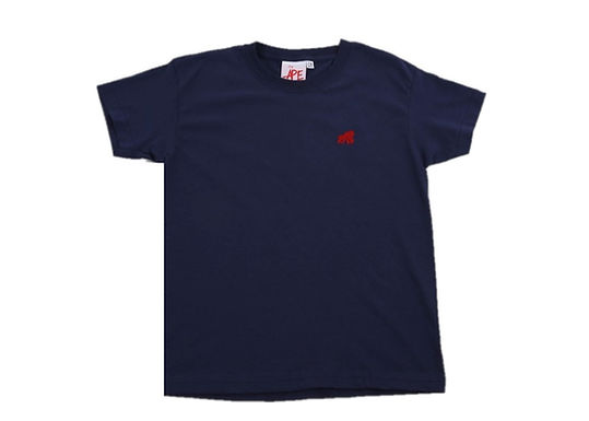 Going APE Navy with Red Logo Crew Neck