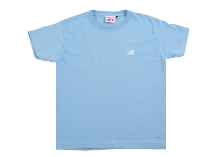 kids baby blue t-shirt with a white logo