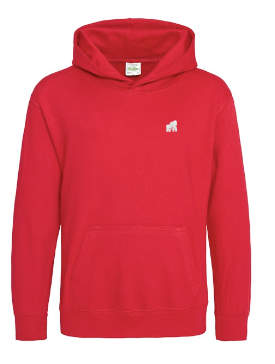 Reds kids hoodie with white logo