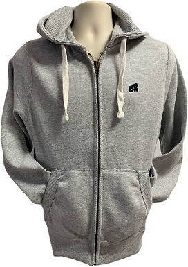 Adult Zip Hoodies - Grey