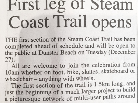 The Steam Coast Trail is OPEN!!!!!