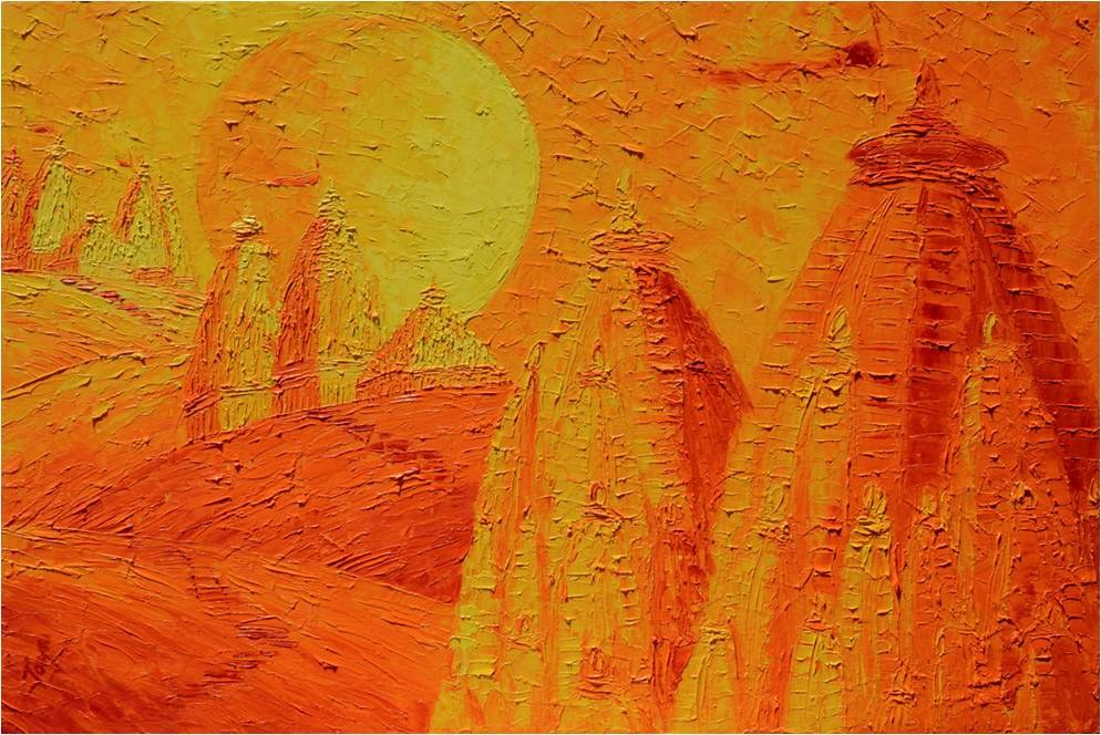Fire in the Sky -  SOLD