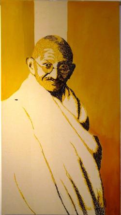 Gandhi in Yellow