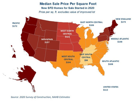 Square Foot Prices Up In 2020