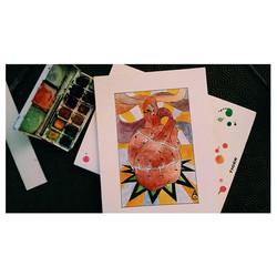#heart #sacredheart #ink #watercolor #watercolorart #inked #inktober #picofthenight #hearttattoo #he