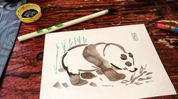 Sumi-e Panda