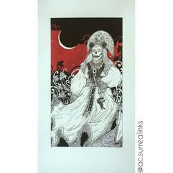 Eclipse, faber castel pitt pens & caran d'ache gouache watercolours on fabriano illustration paper