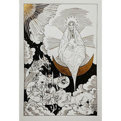 Close up__#apocalypse #newtestament #sundressedwoman #god #monster #reddragon #dragon #iconography #