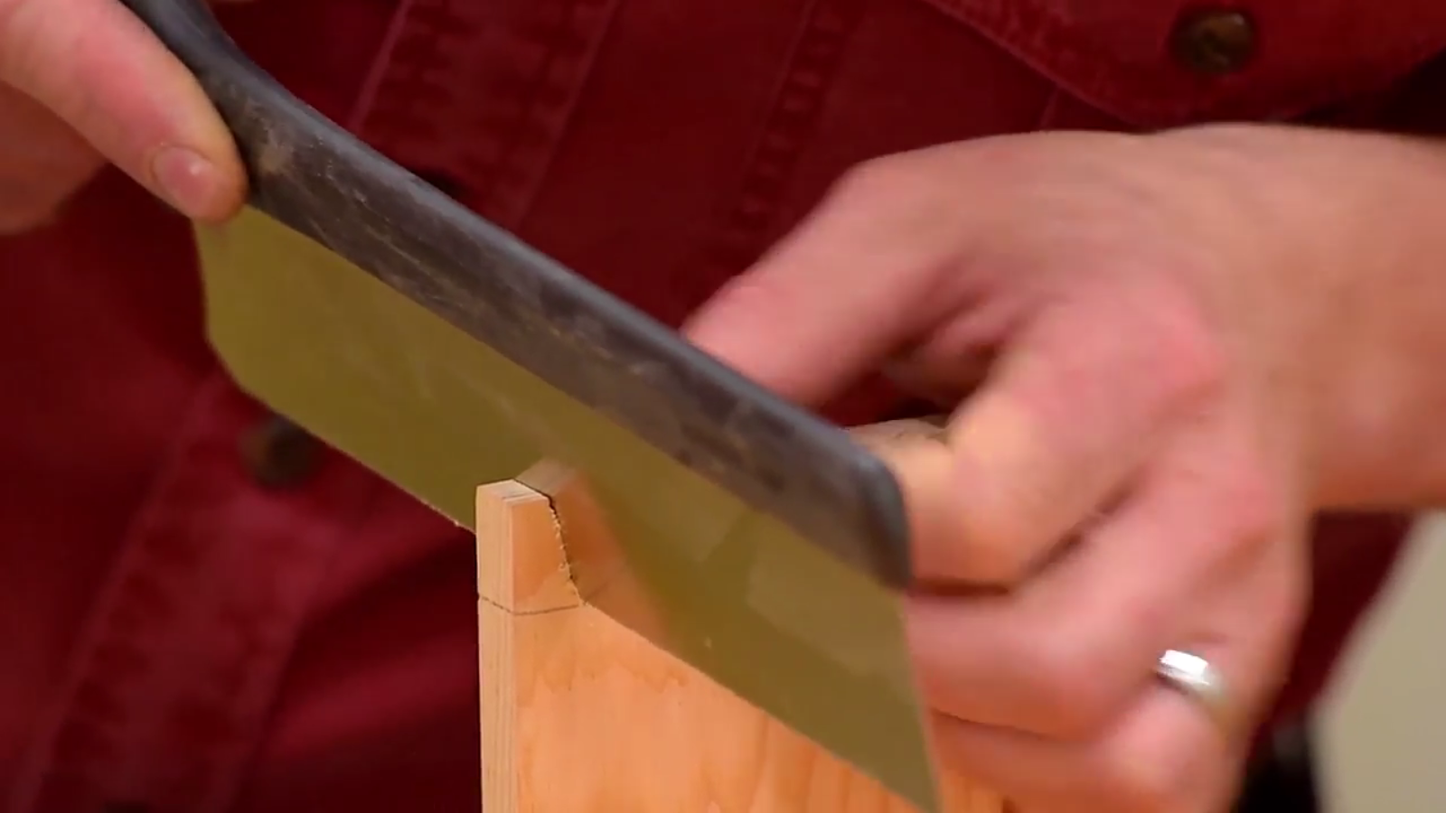 Veritas dovetail saw in action