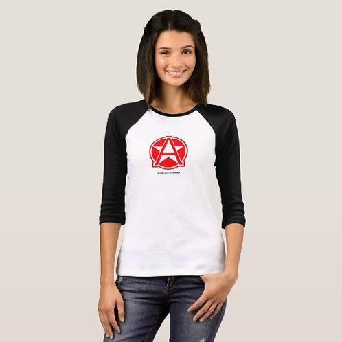 Womeb's 3/4 sleeve T-shirt