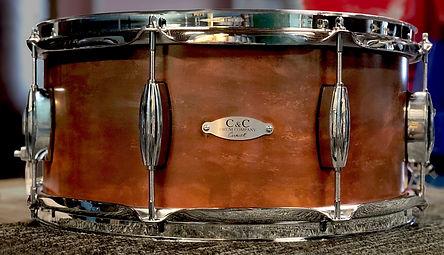 C & C drums copper snare