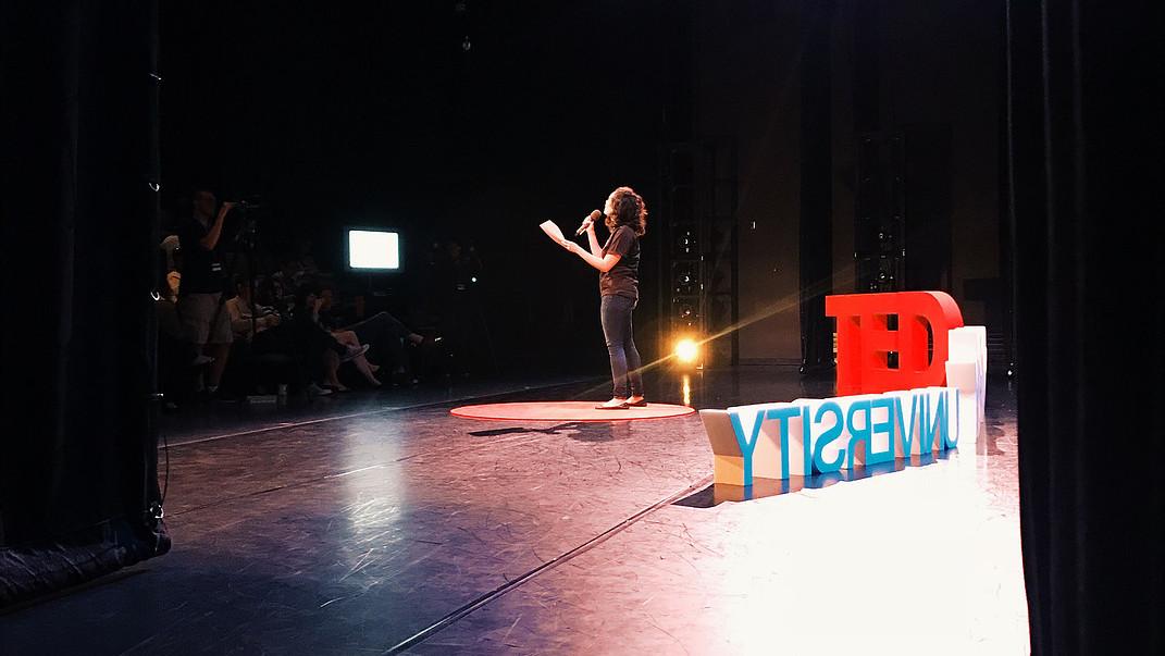 Emceeing TEDxPointParkUniversity