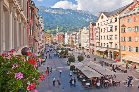 Das Zentrum von Innsbruck ist in wenigen Minuten erreichbar