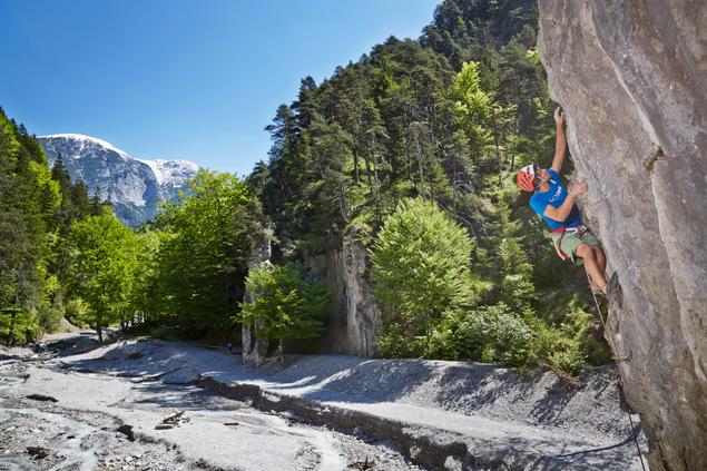 Die Ehnbachklamm ist ein Eldorado für Kletterer