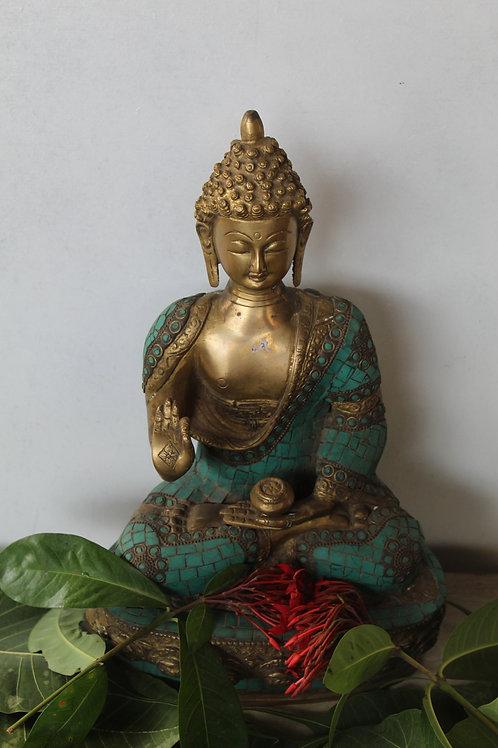 Kotsa Sitting Buddha Idol Statue Showpiece for Home Decoration and Gifting