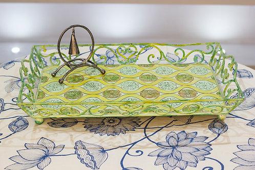Kotsa Rectangle Tray With Carving On Side Designer Item 633