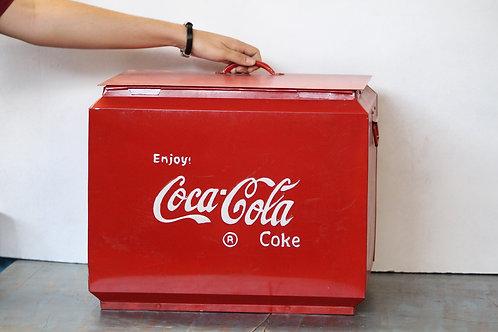 Vintage style Coca Cola metal boxes with cap opener edge