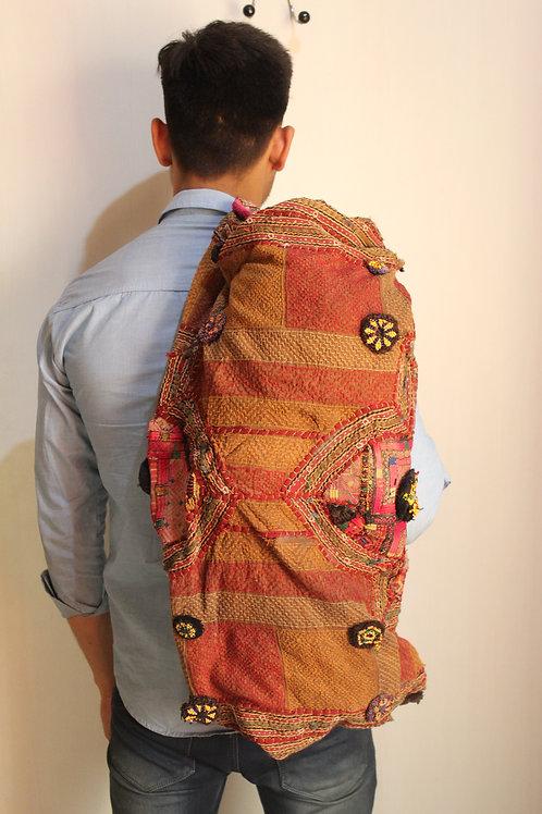 Yoga mat handmade banjara bag authentic vintage clothing stitched fine p