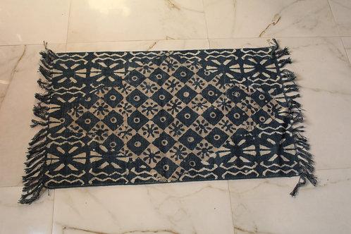 Kotsa New Carpet For Bedroom | Indigo Color Flower Pattern Carpet | KC02