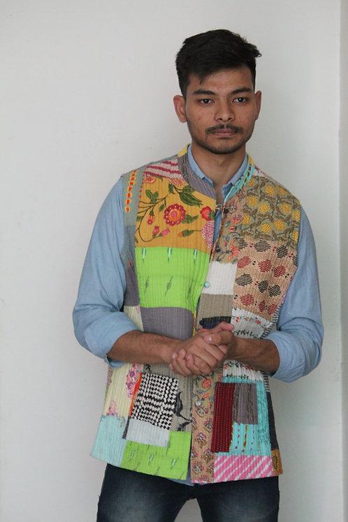 Kotsa Reversible kantha Jacket | Unisex Jacket | Banjara Jacket | KVJ08