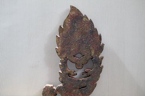 Kotsa Sustainable Wall Hanging Chritmas Gift | Recycled Wooden Santa Face K66