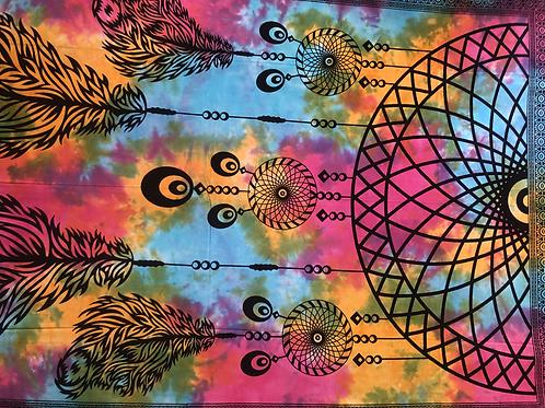 Kotsa Cotton Single Mandala Bedsheets   Tree Of Life   Handmade Prints   B19