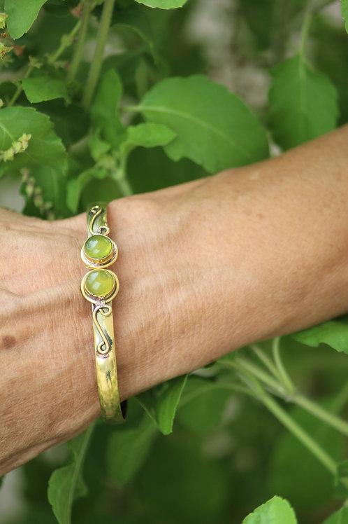 Handmade brass gemstone bracelet jalebi jewels