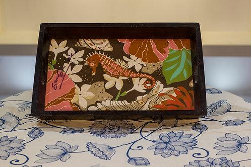 Kotsa Rectangle Tray With Carving On Side Designer Item 625