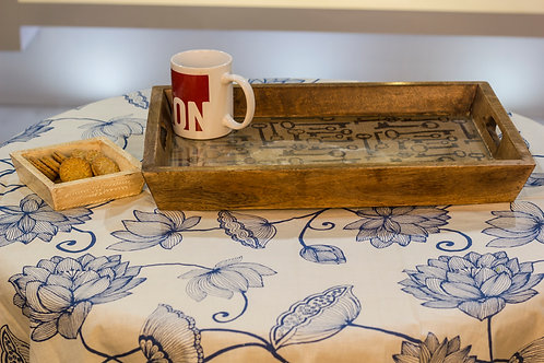 Kotsa Rectangle Tray With Carving On Side Designer Item 628
