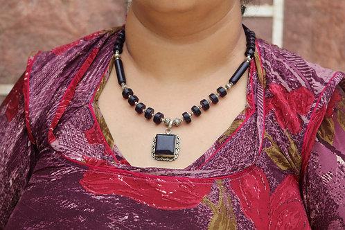 Handmade black amethyst necklace original rare design customise party and luxury