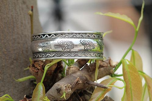 Kotsa Elephant design cuff bracelet handmade silver unique designs two jewels